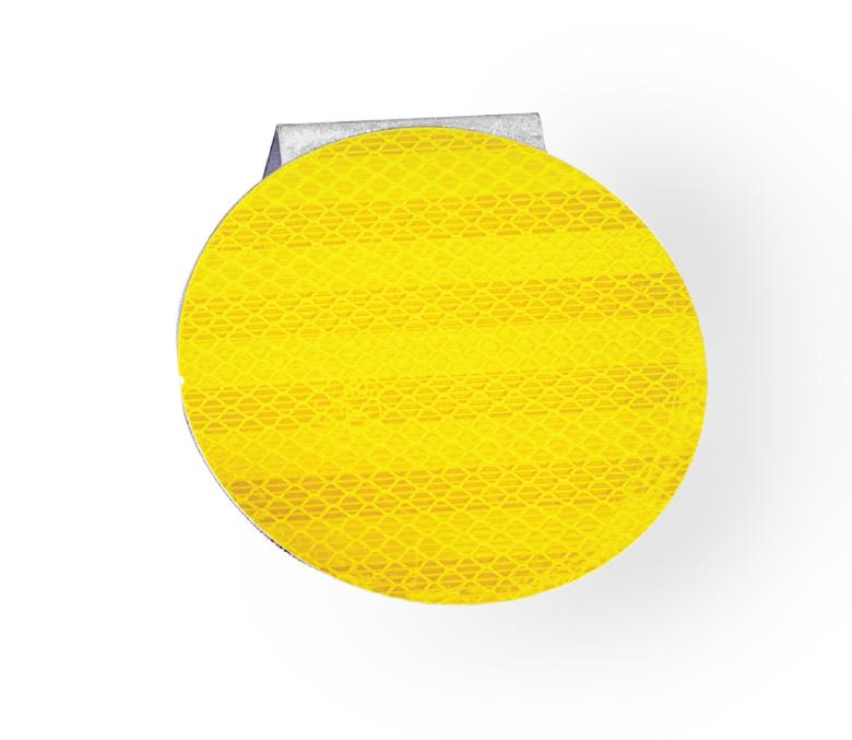 แผ่นเป้าติดการ์ดเรลแบบกลมสีเหลือง
