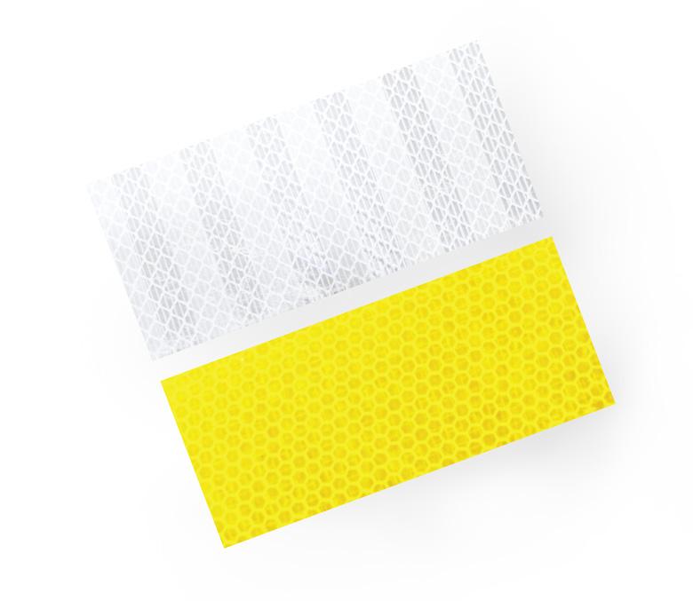 สติ๊กเกอร์ติดเสาการ์ดเรลสีขาว สติ๊กเกอร์ติดเสาสีเหลือง